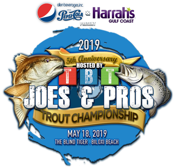 Joes and Pros Trout Tournament 5th Anniversary logo for 2019